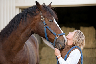 Pferd mit Besitzerin