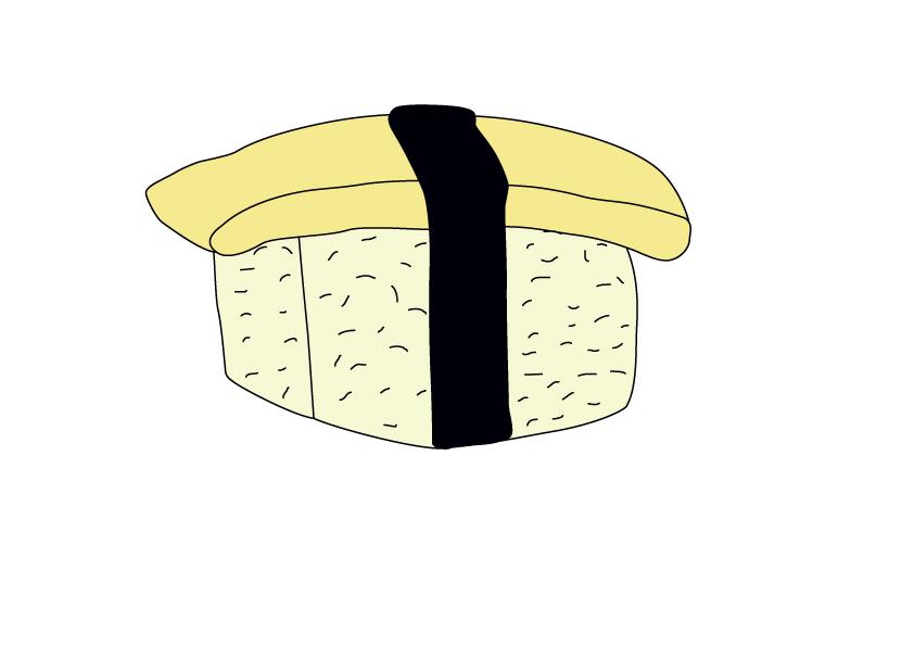 Sushi-mit-Omelettrollen Tamago