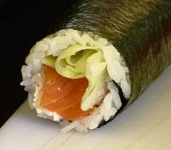 sushi reis schon in der rolle