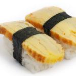 Tamago Yaki Sushi-mit-Omelettrollen